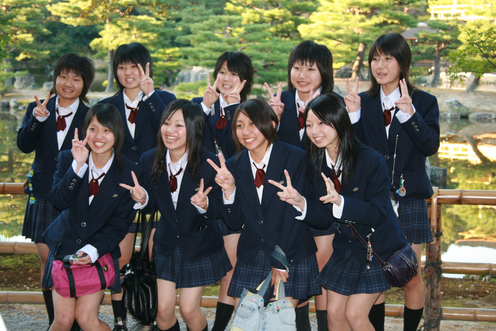 5 Hot japanese school girls bully teacher