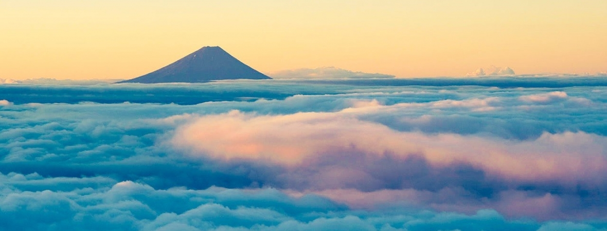 Sea of clouds at Mt. Fuji